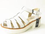欧美外贸真皮圆头凉鞋 夏季厚底松糕鞋高跟粗跟女凉鞋 女鞋