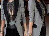 2014秋装女装韩版潮修身中长款大码小西装女外套长袖西服女热销中