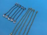 厂家直销箱包金属波仔链 吊牌挂件圆珠链 女士箱包包电镀链条