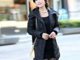 秋冬新款.韩版女装女士羽绒服女冬新款中长款修身厚外套.羽绒服