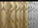 华顺纺织工程纱欧式简约金丝提花剪花窗纱遮光布配套纱帘窗帘布料
