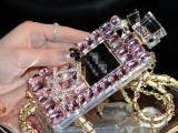 厂家直销 2014新款贴钻香水瓶手机壳 IPHONE5S手机壳