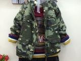 叮卡啦品牌童装冬款韩版迷彩童外套 男童加绒外套 儿童外套批发