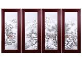 瑞雪迎春瓷板画 大师70年粉彩雪景大成作