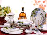 生产供应56头骨瓷餐具套装 景德镇骨瓷餐具套装