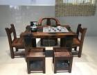 老船木茶桌新中式实木家具船木功夫茶台阳台小茶几休闲茶桌椅组合