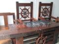 汕头老船木组装地网茶台批发仿古功夫茶桌椅组合