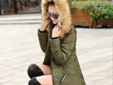 厂家清仓韩版修身羽绒棉服加厚大码女装加盟棉衣女中长款女式棉衣