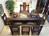 长春老船木茶桌椅新中式实木功夫茶桌茶台阳台茶几茶艺桌客厅家具
