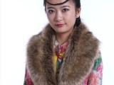 现货供应男女通用大狐狸毛领 貉子帽条 加工订做毛领大衣毛领 毛