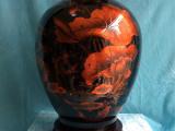 陶瓷花瓶  创意礼品 镭射浮雕花瓶 摆件 装饰