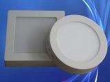 led灯壳6瓦明装圆形面板灯外壳 厂家供应压铸面板灯灯具配件批发