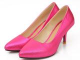 韩国正品性感小尖头女鞋OL 细跟纯色淑女单鞋一件代发 大小码简约