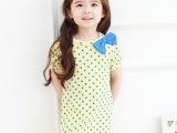 女童水玉波点蝴蝶结短袖连衣裙 女童夏季公主裙 一件代发
