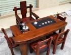 老船木家具茶台,船木带挡板茶台,船木电磁炉茶台