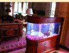 无锡实木鱼缸定做红木鱼缸玄关隔断超白鱼缸定制