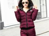 特价韩国女式韩版时尚羽绒棉衣套装个性潮装两件套棉衣棉袄女