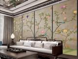 深圳厂家PU数码印花加工 客厅电视背景墙酒店壁纸壁画定制