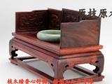 微型精品雕刻红酸枝宫廷椅 仿明清微缩家具