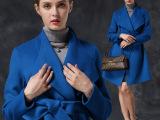 欧美风羊绒大衣15冬季新款100%羊毛外套 女式手工双面羊毛大衣