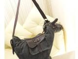 2013新款韩版风范帆布小毛驴单肩包 斜挎包 女包
