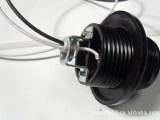 灯头 线长15CM黑色电木灯头 灯座 E27灯头 吊灯螺口灯头