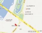 临汾市滨河南路平阳国际楼顶喷绘大牌