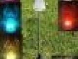 光纤蝴蝶草坪灯 光纤天使草坪灯 蜜蜂青蛙翻杆灯