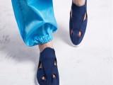 厂家定制防静电鞋pvc四孔鞋 帆布四孔鞋防尘工作鞋四孔鞋批发