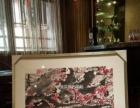 咸宁会所装饰字画成品批发、手绘国画八骏图定制裱框挂画框出售