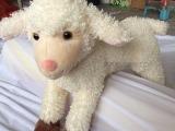 厂家定做羊年吉祥物 羊羔绒毛绒小羊公仔 填充pp棉,pp胶粒