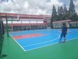 大浪篮球场旧地面翻新 学校公共设施维护彩色防滑运动施工厂家