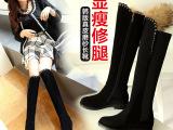 2014新款女鞋 真皮显瘦过膝长靴 长筒靴高筒靴女靴子厂家直销