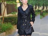 2014春秋装韩版修身女士PU皮衣女中长款潮皮风衣正品外套皮夹克