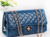 2014新款 小香包包复古单肩斜挎韩版菱格纹链条包潮女包 一件代