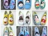太原DIY手绘鞋培训 太原帆布鞋彩绘设计 太原卖帆布鞋店