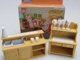 创意礼物迷你厨房橱柜场景家具女童儿童宝宝玩具益智创意套装
