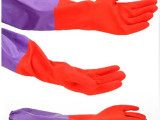 冬天保暖清洁束口加绒手套加厚家务清洁手套洗碗洗衣服塑胶手套