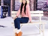 艾依纺批发冬季女裤新款韩版弹力女式加绒加厚小脚铅笔牛仔裤长裤