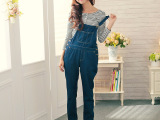 十三行2015秋季新款女装日系女式牛仔裤 甜美时尚背带裤女批发