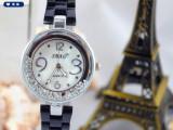2014新款创意滚动珠子时尚韩版仿陶瓷手表女士高档防水手表爆款