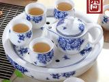 茶具套装特价 高档功夫陶瓷茶具套装礼盒 8头双层带茶壶茶盘茶具