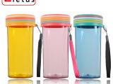 塑料杯七彩绚丽彩虹杯 广告杯促销礼品杯 水杯定制 印LOGO盒装