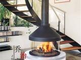 乔治RG1202悬挂式定制壁炉 现代燃木火炉实木取暖别墅壁炉