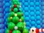 保定蜂巢文化传媒 节日主题气球装饰 圣诞节气球布置