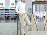 2015春夏季男士英伦格子休闲裤韩版修身小直筒裤男装裤子潮男长裤