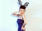夜店舞会派对party圣诞节 性感蕾丝兔耳朵发箍 摄影写真