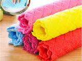 创意厨房抹布吸水不掉毛加厚洗碗布洗碗巾竹纤维不沾油超细清洁布
