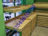 佛山顺德木制水果架钢木货架结构定制三层水果松木货架厂家定制
