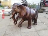 招财铜大象 青铜大象雕塑厂家定制广场吸财铜大象铸造厂